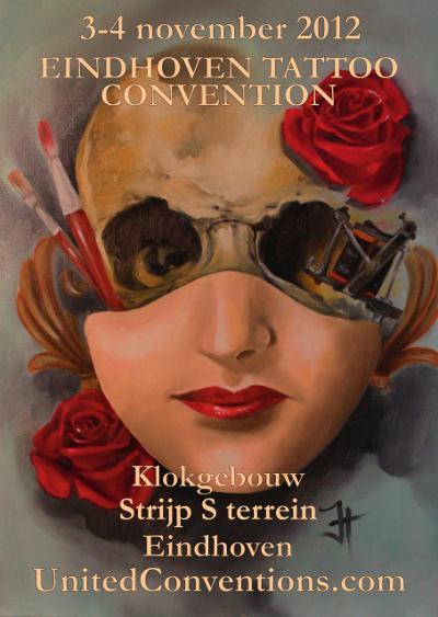 Poster A2 formaat Tattoo Conventie Eindhoven 2012